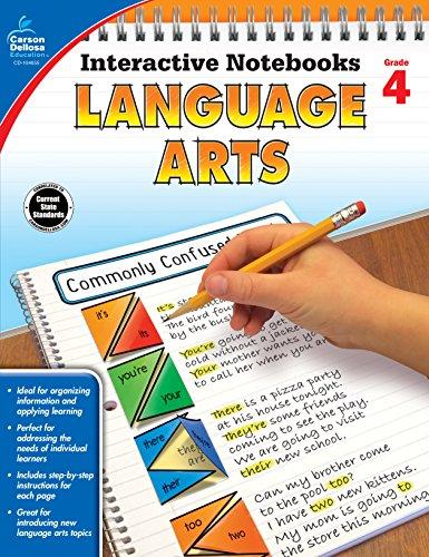 9781483824710: Language Arts, Grade 4 (Interactive Notebooks)