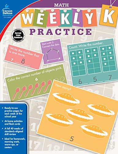 9781483827940: Math, Grade K (Weekly Practice)