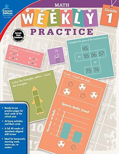 9781483827957: Math, Grade 1 (Weekly Practice)