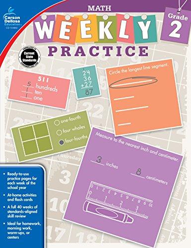 9781483827964: Math, Grade 2 (Weekly Practice)