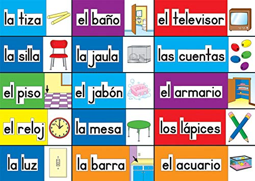 9781483828053: Print-Rich Classroom Labels: Spanish
