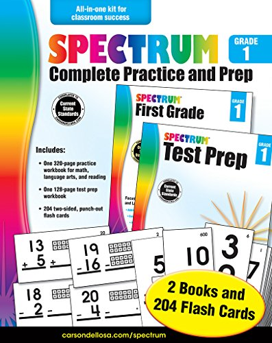 Spectrum Complete Practice and Prep, Grade 1: Spectrum and Carson-Dellosa Publishing
