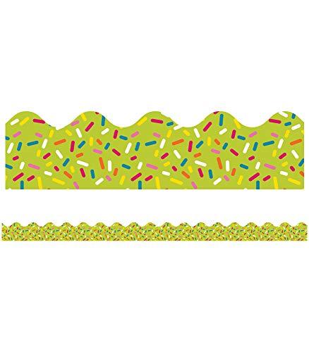 9781483829623: School Pop Lime Sprinkles Scalloped Borders