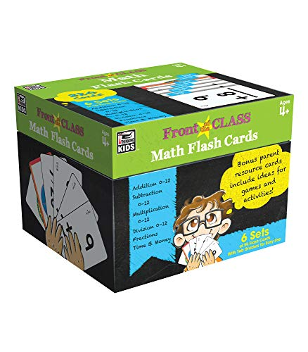 9781483830414: Math Flash Cards, Ages 4 - 8 (Front of the Class)