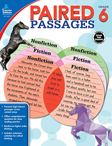 9781483830704: Paired Passages, Grade 6