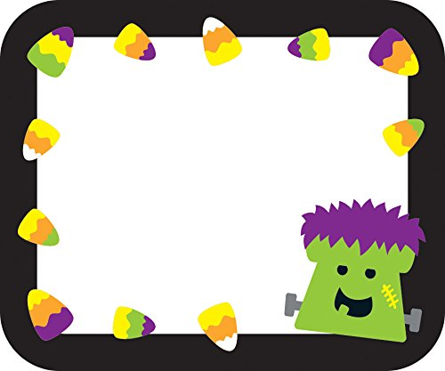 Halloween Name Tags 9781483836386 Give any area of your classroom a BOO-tiful touch with the fun and festive Halloween name tags. Each of the 40 self-adhesive tags featur