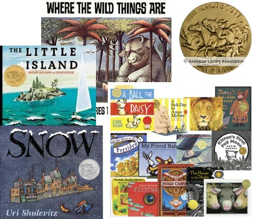 9781483900148: Book Sets Caldecott (9) : Officer Buckle and Gloria - Miss Rumphius - Peppe the Lamp Lighter - The Stinky Cheese Man and Other Stories - Where the Wild Things Are - Song and Dance Man - Snow - The Little Island - Albert (An Unofficial Box Set)