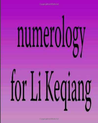 9781483900704: Numerology for Li Keqiang