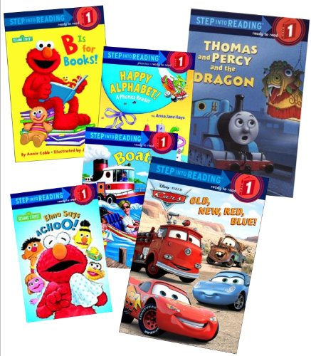 9781483900728: Step Into Reading Collection (6): Disney Pixar Cars, Old, New, Red, Blue; Thomas and Percy and the Dragon; Thomas the Tank Engine Goes to School; Elmo Says Choo; B Is for Books; Say Cheese (Book sets for Kids: Level 1, Step 1)