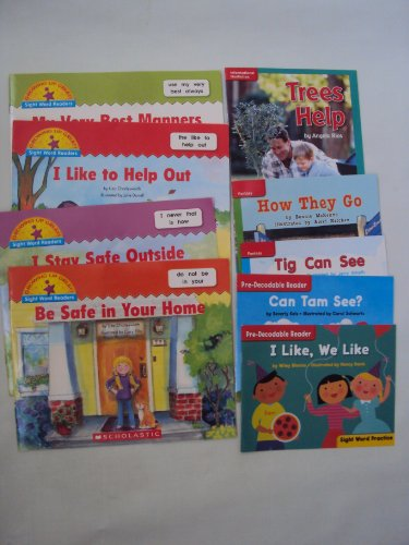 9781483925516: Sight Word Readers Book Set : Be safe in Your Home - I Stay outside - I Like to help out - Very Best Manners (Learning to Read Phonics Books - Sight Word Practice)