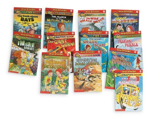Magic School Bus Books: The Search for the Missing Bones; Space Explorers; Food Chain Frenzy; Passport (Book sets for Kids: Magic School bus chapter books) (1484011651) by Scholastic; Anne Capeci