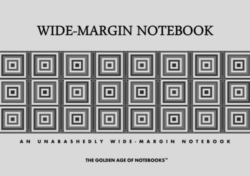 9781484069691: Wide-Margin Notebook: An Unabashedly Wide-Margin Notebook
