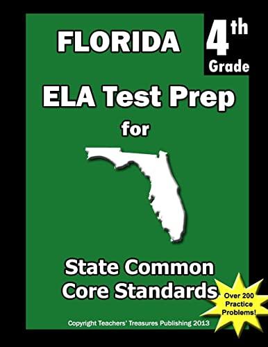 9781484114100: Florida 4th Grade ELA Test Prep: Common Core Learning Standard