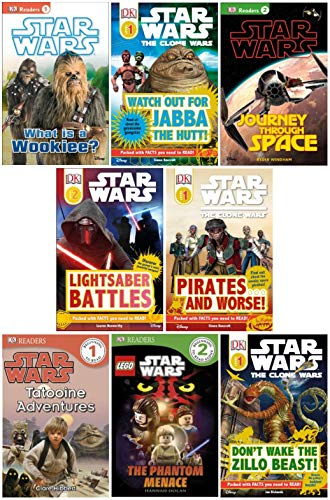 9781484140796: Dk Reader Star Wars Set (8 Books) : Watch Out for Jabba the Hut; Don't Wake the Zillo Beast; Tatooine Adventures; What Is a Wookie; Pirates and Worse; Journey Through Space; Star Wars Lego the Phantom Menace; Yoda in Action (Book Sets for Kids : DK Reader Level 1 - 4)
