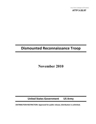 9781484149256: Army Tactics Techniques and Procedures ATTP 3-20.97 Dismounted Reconnaissance Troop