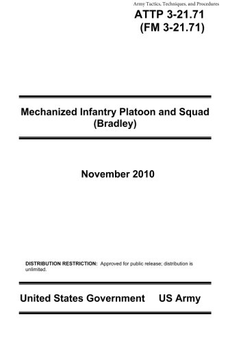 9781484161753: Army Tactics, Techniques, and Procedures ATTP 3-21.71 (FM 3-21.71) Mechanized Infantry Platoon and Squad (Bradley) November 2010