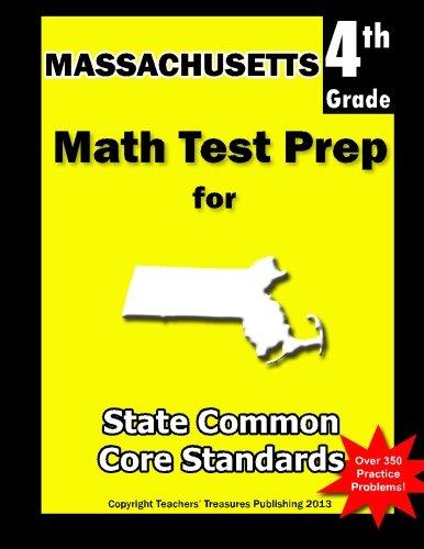 9781484164952: Massachusetts 4th Grade Math Test Prep: Common Core Learning Standards
