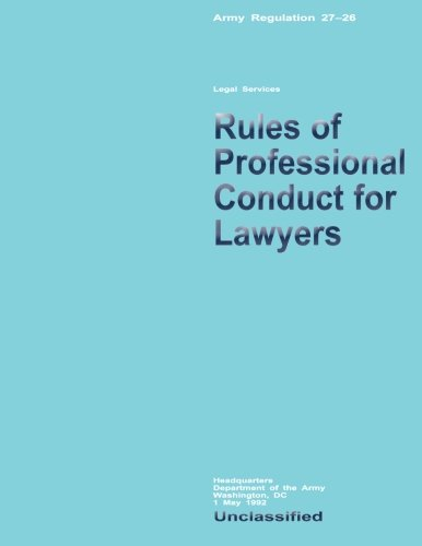 Rules of Professional Conduct for Lawyers (Paperback): Department of the