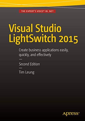 9781484207673: Visual Studio Lightswitch 2015