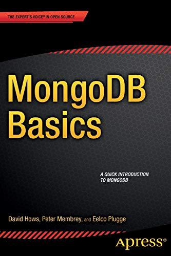 9781484208960: MongoDB Basics