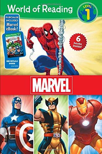9781484704370: World of Reading Marvel Boxed Set, Level 1 (World of Reading, Level 1)