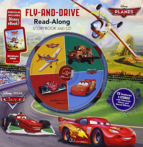 9781484706565: Cars/Planes Fly-and-Drive Read-Along Storybook and CD: Purchase Includes Disney eBook! - CD Features 4 Stories with Character Voices and Sound Effects!