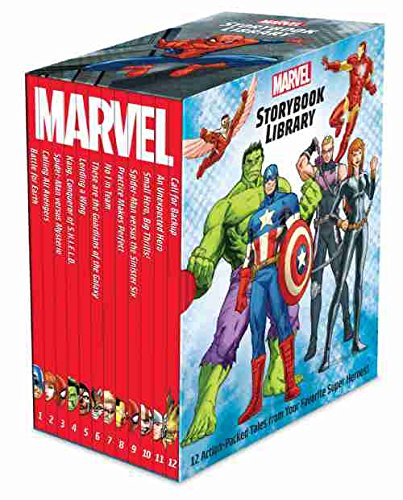 Marvel Storybook Library Factory Sealed Box set 12 books Marvel Super Hero Stories