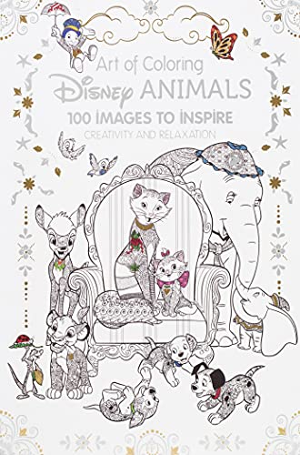 9781484758397: Art of Coloring: Disney Animals: 100 Images to Inspire Creativity and Relaxation