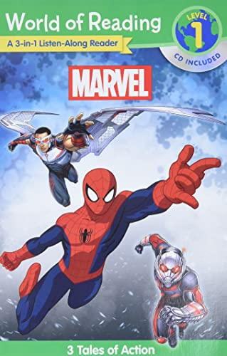 World of Reading: Marvel Marvel 3-in-1 Listen-Along Reader : 3 Tales of Action with CD!