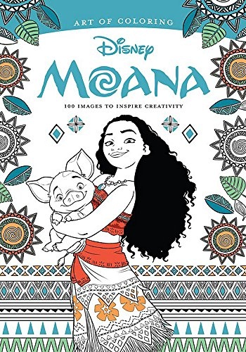9781484789704: Art of Coloring: Moana: 100 Images to Inspire Creativity
