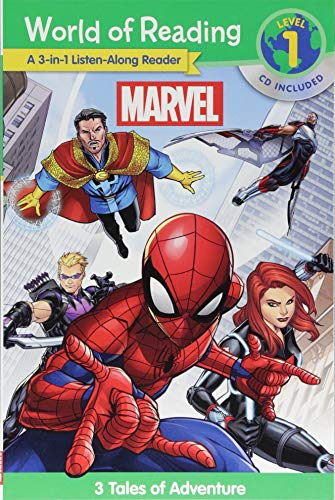 World of Reading Marvel 3-in-1 Listen-Along Reader : 3 Tales of Adventure with CD!