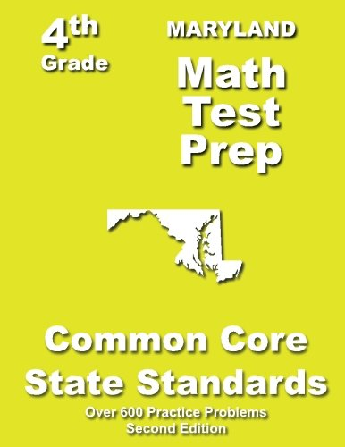 9781484805732: Maryland 4th Grade Math Test Prep: Common Core Learning Standards