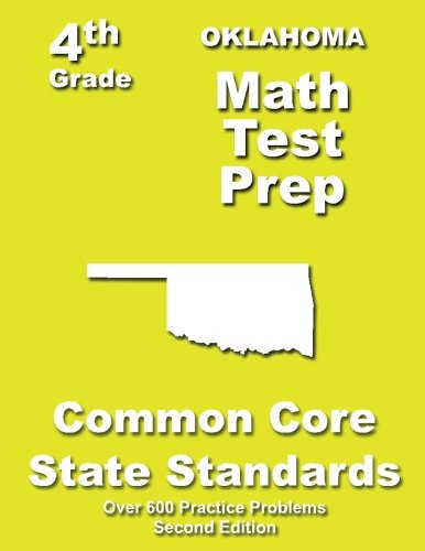 9781484812167: Oklahoma 4th Grade Math Test Prep: Common Core Learning Standards