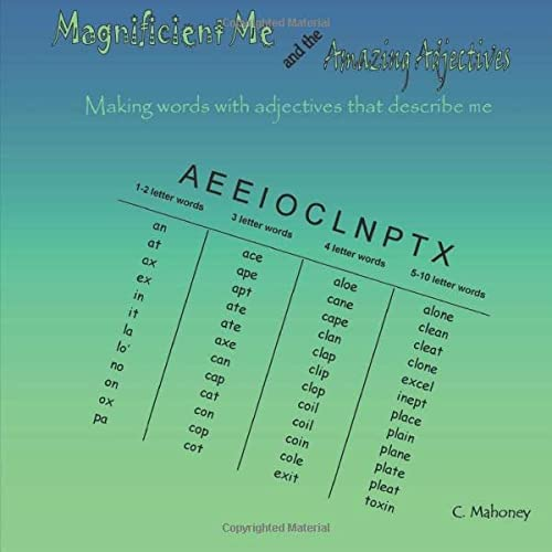 9781484879160: Magnificent Me and the Amazing Adjectives: Making words with adjectives that describe me