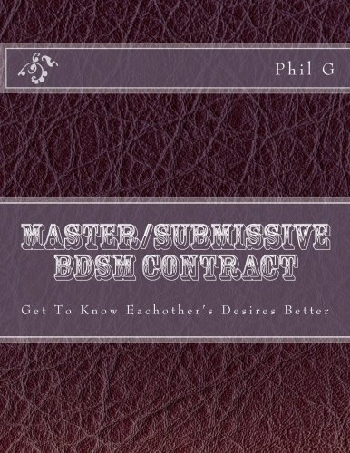 9781484958247: Master/submissive BDSM Contract