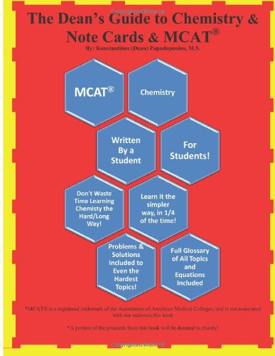 9781484962848: Complete Chemistry Study Guide + Flashcards & MCAT Review (The Dean's Guide)