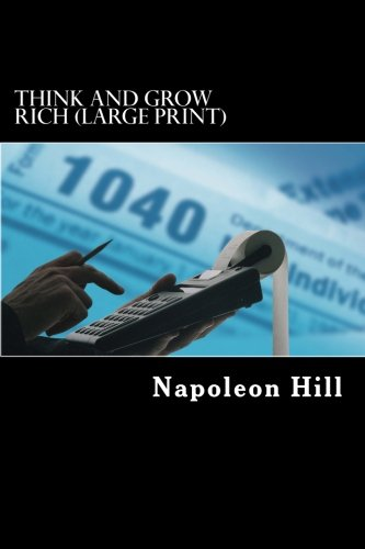 Think and Grow Rich (Large Print) (1484964918) by Hill, Napoleon