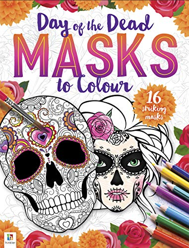 Day of the Dead Masks to Colour (Paperback)
