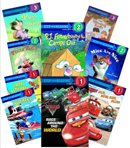 9781489512925: Step Into Reading Collection (12) : Dc Super Friends; Pj Funny Bunny; Pixar Cars, Red Blue, Old New; Race Around the World; the Incredibles, Incredible Dash (Book Sets for Kids : Kindergarten - Grade 1)