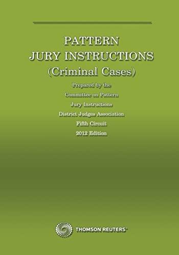 Pattern Criminal Jury Instructions Abebooks