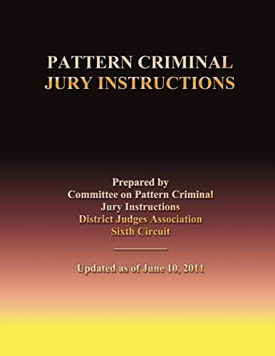Pattern Jury Instructions Abebooks