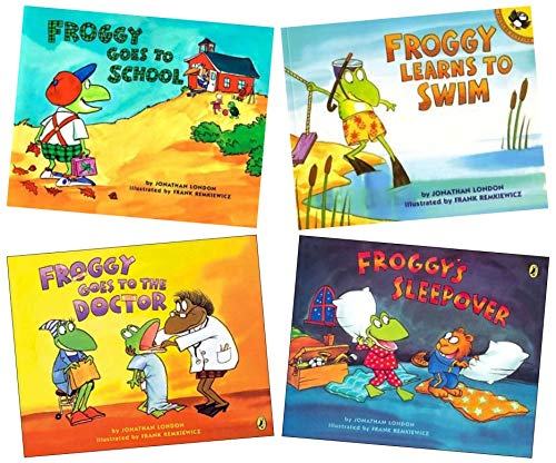 9781489590343: Froggy Books (4) : Froggy Goes to School - Froggy's Sleepover - Froggy Goes to the Doctor - Froggy learns to swim (Children Storybook Sets)