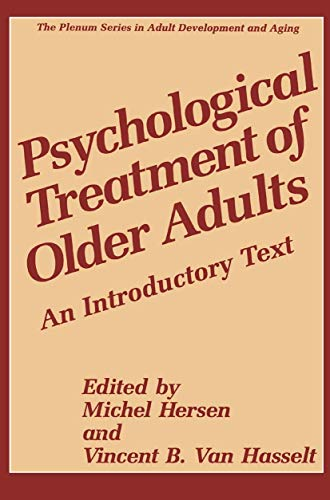 Psychological Treatment of Older Adults: An Introductory Text