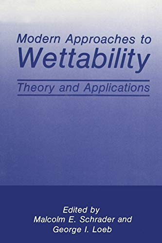 9781489911780: Modern Approaches to Wettability: Theory and Applications