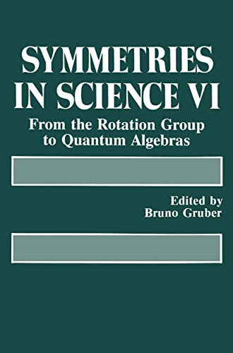 Symmetries in Science VI From the Rotation Group to Quantum Algebras