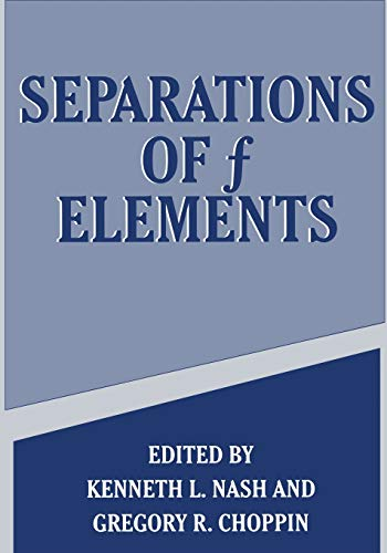 9781489914088: Separations of f Elements