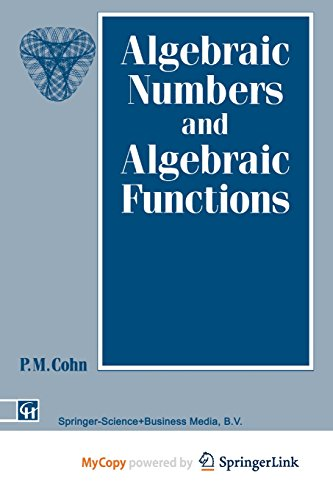 9781489934451: Algebraic Numbers and Algebraic Functions