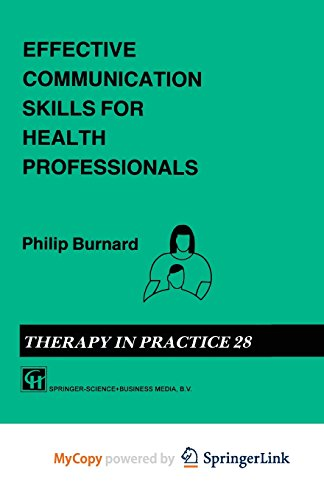 9781489945129: Effective Communication Skills for Health Professionals