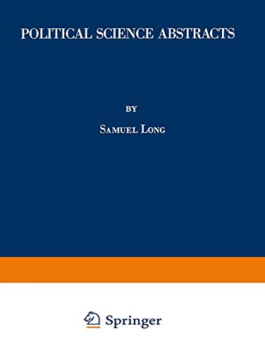 Political Science Abstracts (Paperback): Long Samuel