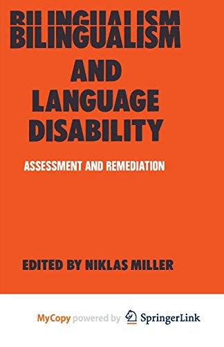 9781489972392: Bilingualism and Language Disability: Assessment & Remediation